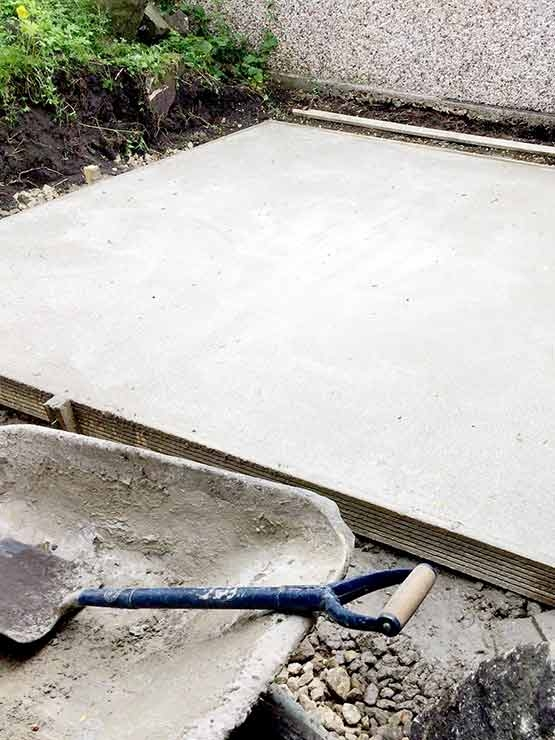 Concrete foundation setting