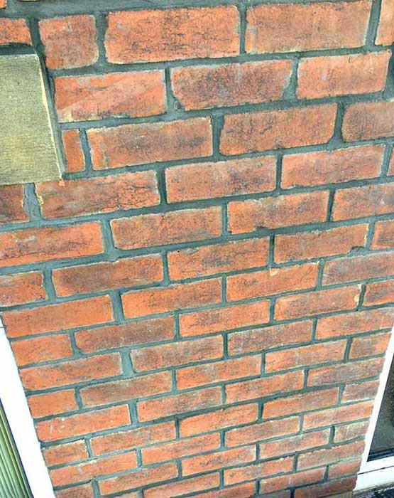 Exterior Bricks Re-pointed