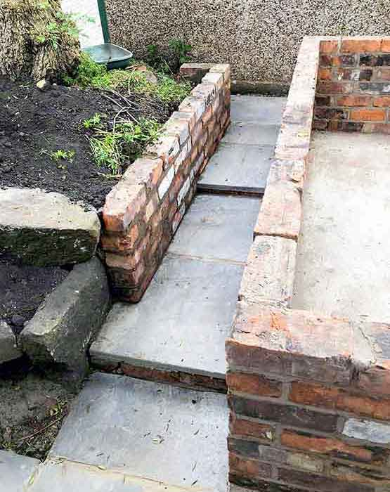 Garden Path and Retaining Wall