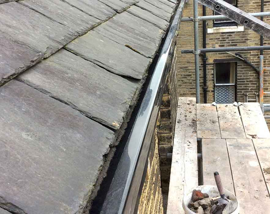 New Roof Guttering Installed