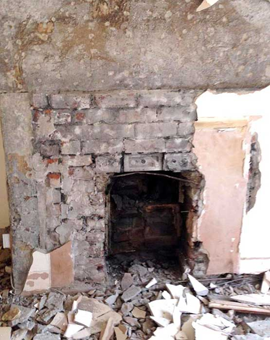 Old Fireplace Uncovered